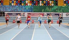 Turkcell Turkish U20 Indoor Athletics Championships Royalty Free Stock Image