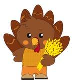 Turkey. Illustration of brown turkey cartoon Royalty Free Stock Photo