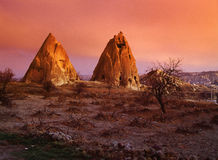 Turkey. Cappadocia landscape kinds of turkish republic Royalty Free Stock Photos