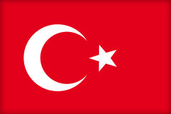 Turkey. The flag of Turkey. (Original and official proportions Royalty Free Stock Image