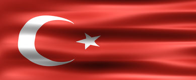 Turkey. Background Flag - Symbol of a country Royalty Free Stock Photos