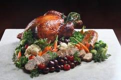 Turkey. Christmas turkey serve with mix vegetable Stock Photos