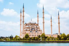 Turkey Adana Sabanci Central Mosque Stock Images
