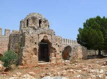 Turkey, Alanya castle detail Royalty Free Stock Image