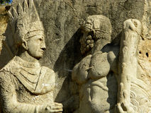 Turkey - the ancient stone. The great king Antiochus meets Hercule Stock Photo