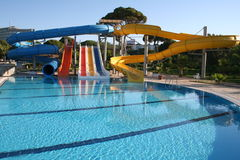 Turkey. Antalya. Aquapark in hotel Royalty Free Stock Photos