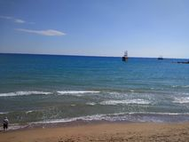 Turkey Antalya Manavgat Side Beach. Antalya Manavgat Side Beach Royalty Free Stock Photo