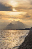 Turkey. Antalya. Mediterranean sea. Sunset Royalty Free Stock Photos