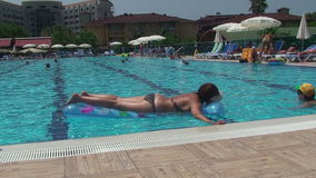 Turkey, Antalya 2015 the month of August. the pool at the hotel stock video