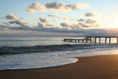 Turkey. Antalya. Sunset on Mediterranean sea Royalty Free Stock Photography