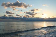 Turkey. Antalya. Sunset on Mediterranean sea Stock Photos