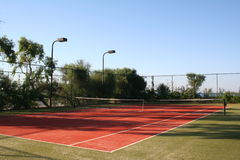 Turkey. Antalya. Tennis court in hotel Stock Photography