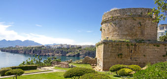 Turkey. Antalya town. Fortress Royalty Free Stock Photos