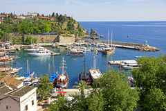Turkey. Antalya town.Harbor Stock Photo