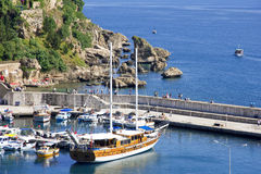 Turkey. Antalya town.Harbor Stock Images