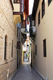 Turkey. Antalya town. Street of traditional house Royalty Free Stock Image