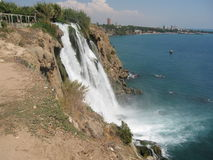 Turkey, Antalya, waterfall royalty free stock images