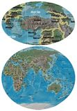 Turkey and Asia Oceania map. Turkey close up from Asia Oceania map Royalty Free Stock Image