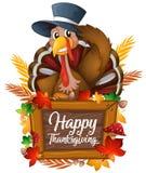 A turkey on autumn icon. Illustration royalty free illustration