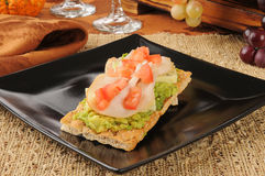 Turkey avocado appetizers Royalty Free Stock Image