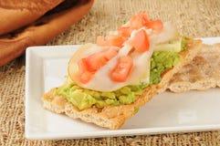 Turkey avocado canapes Royalty Free Stock Images