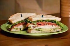 Turkey Avocado Sandwich Royalty Free Stock Photo