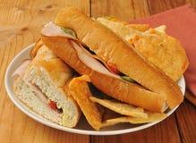 Turkey avocado sandwich stock photos