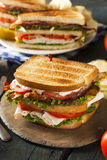 Turkey and Bacon Club Sandwich Stock Images
