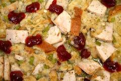 Turkey Bake. With cranberry, celery, onion, gravy and bread royalty free stock photo