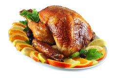 Turkey baked in the oven Royalty Free Stock Photography