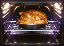 Turkey is baked in oven Royalty Free Stock Photos