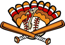 Turkey Baseball. Vector Image of a Baseball Turkey Royalty Free Stock Image