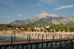 Turkey beach and mountain Stock Photography