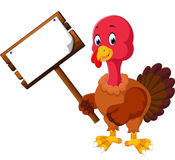 Turkey bird cartoon Royalty Free Stock Images