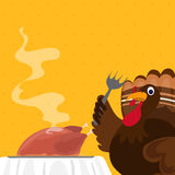 Turkey Bird for Happy Thanksgiving Day. Stock Image