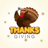 Turkey bird for Happy Thanksgiving Day. Royalty Free Stock Images