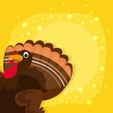 Turkey Bird for Thanksgiving Day celebration. Happy Thanksgiving Day celebration with Turkey Bird on stylish yellow background royalty free illustration