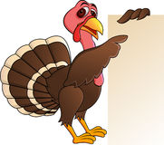 Turkey with blank sign Royalty Free Stock Photography