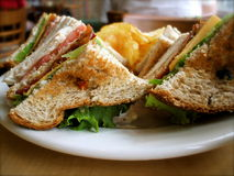 Turkey BLT Sandwich stock photography