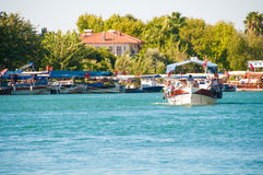 Turkey, a boat trip on the river Dalyan Stock Images