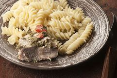 Turkey breast baked with pasta Royalty Free Stock Image