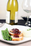 Turkey breast with cranberry sauce Royalty Free Stock Photography
