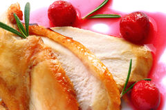 Turkey breast with cranberry sauce Stock Image