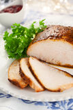 Turkey breast with cranberry sauce Stock Photography