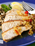 Turkey breast dish close-up Royalty Free Stock Photos