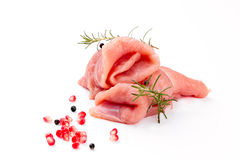 Turkey Breast Fillets On White Royalty Free Stock Photos