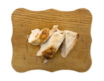 Turkey Breast On Old Cutting Board Royalty Free Stock Photography