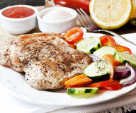 Turkey Breast Roasted with Vegetables Stock Photography