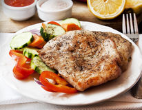 Turkey Breast Roasted with Vegetables Royalty Free Stock Photo