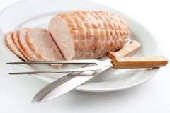 Turkey breast roll Royalty Free Stock Image